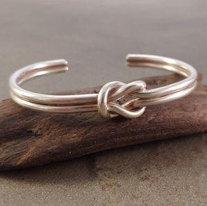 Sterling Silver Love Knot Bracelet Cuff - NWOT